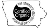Iowa department of agriculture certified organic